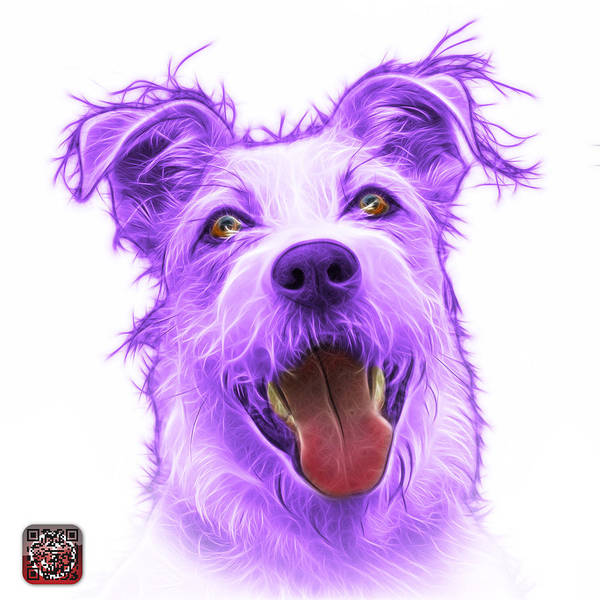Painting - Violet Terrier Mix 2989 - Wb by James Ahn