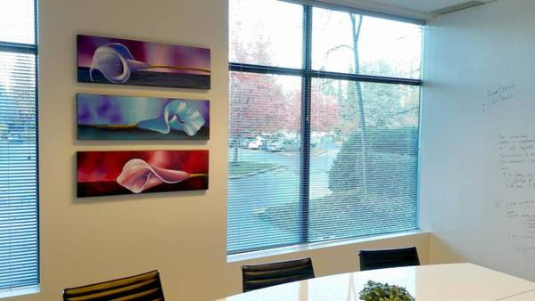 Mojo Painting - Violet Triptych by Studio Mojo Artwork Canada