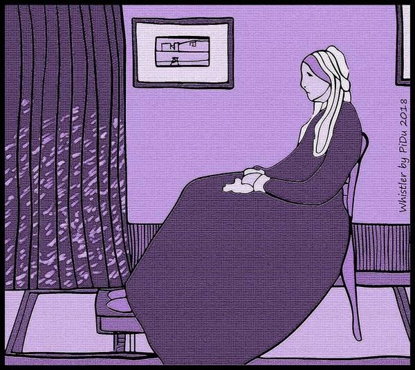 Digital Art - Violet Whistler's Mother by Piotr Dulski