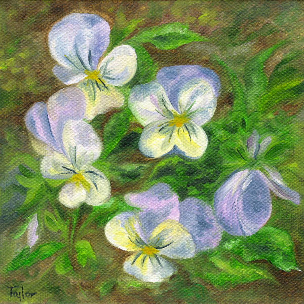 Painting - Violets by FT McKinstry