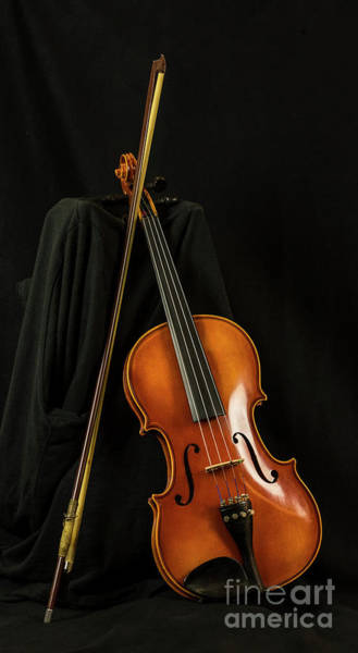 Photograph - Violin And Bow by Michael D Miller