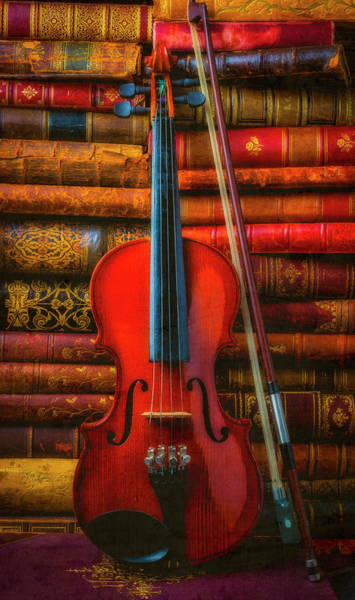 Wall Art - Photograph - Violin And Old Books by Garry Gay