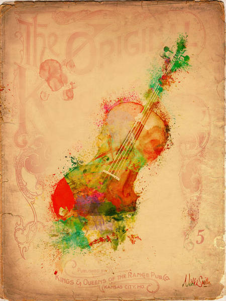 Electric Guitar Wall Art - Digital Art - Violin Dreams by Nikki Marie Smith