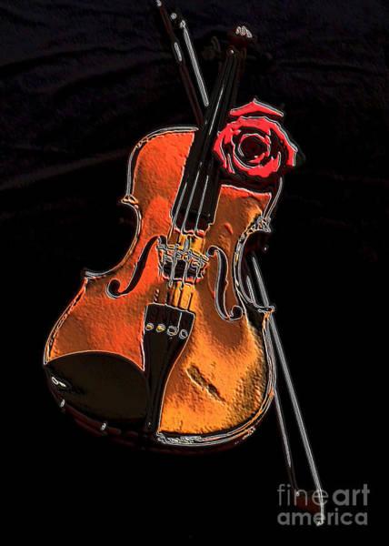 Sienna Photograph - Violin Extreme by Marsha Heiken