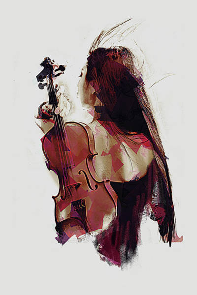 Digital Art - Violin by Galen Valle