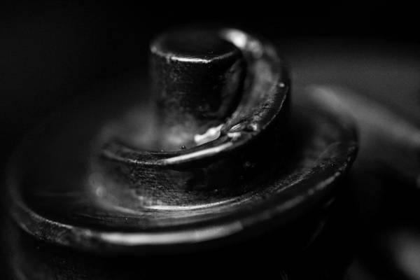Photograph - Violin Handle Macro Portrait Black White by David Haskett II