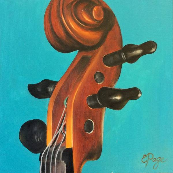Painting - Violin Head by Emily Page
