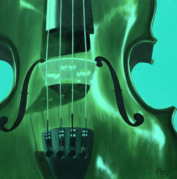 Painting - Violin In Green by Emily Page