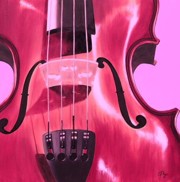 Painting - Violin In Pink by Emily Page