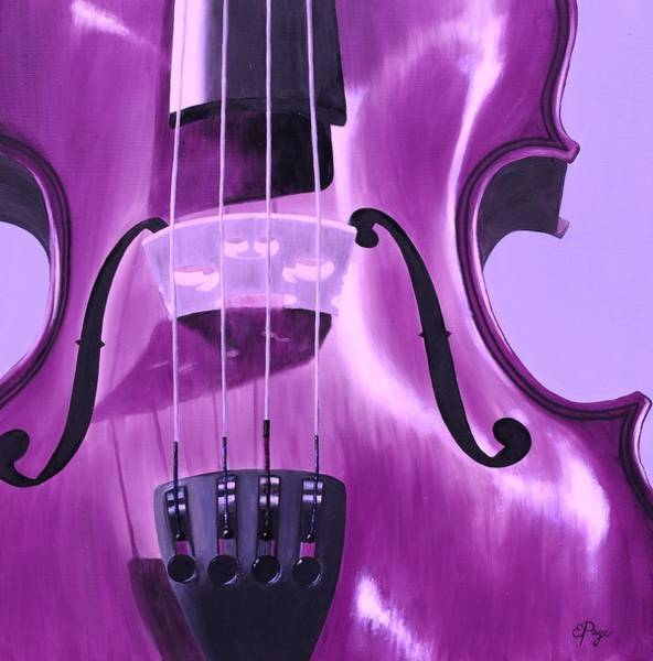 Painting - Violin In Purple by Emily Page
