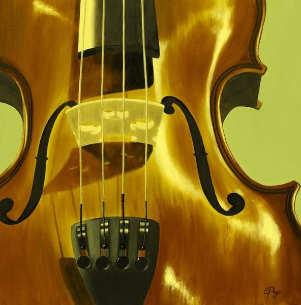 Painting - Violin In Yellow by Emily Page