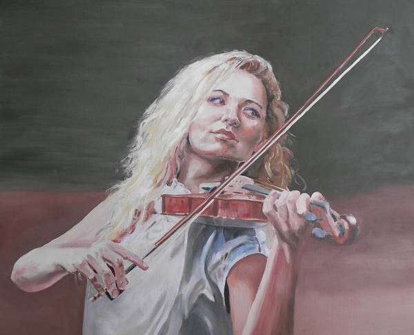 Painting - Violin Solo by John Neeve