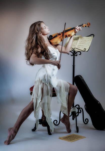 Photograph - Violinista #2 by Rikk Flohr