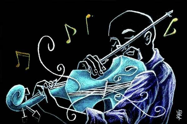 Wall Art - Drawing - Violinista Gran Caffe Chioggia - Musica Piazza San Marco by Arte Venezia