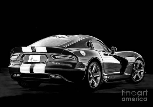 Chevrolet Drawing - Viper Venom by Murphy Elliott