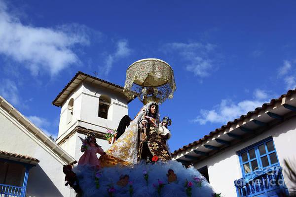 Photograph - Virgen Del Carmen And Church Tower Paucartambo Peru by James Brunker