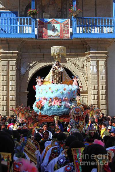 Photograph - Virgen Del Carmen Parade Paucartambo Peru by James Brunker