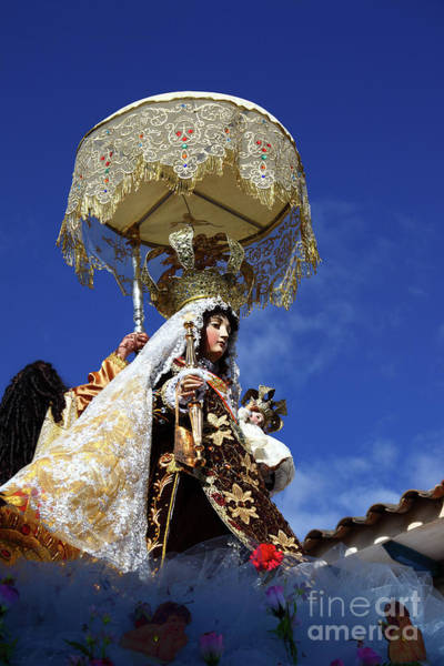 Photograph - Virgen Del Carmen Paucartambo Peru by James Brunker