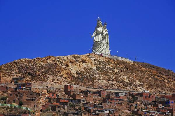 Photograph - Virgen Del Socavon by Skip Hunt