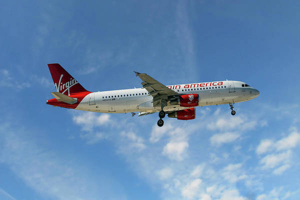 Wall Art - Photograph - Virgin America Airbus A320-214 by Smart Aviation