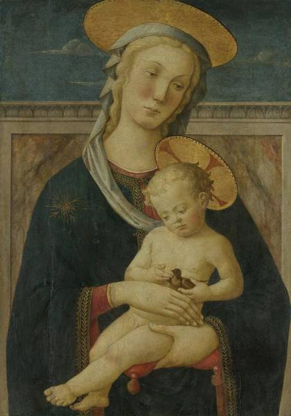 San Miniato Painting - Virgin And Child 1460  by Meester Van San Miniato