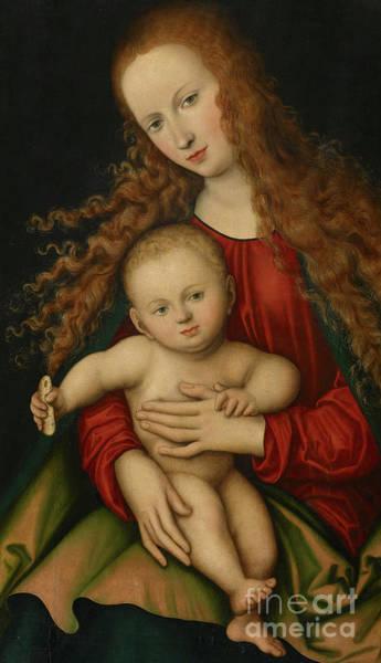 Cranach Painting - Virgin And Child, 1529  by Lucas the Elder Cranach