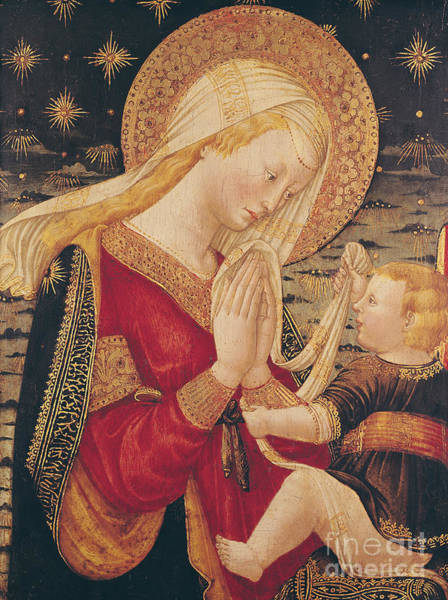 Infant Painting - Virgin And Child  by Neri di Bicci