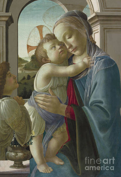 Botticelli Wall Art - Painting - Virgin And Child With An Angel by Botticelli