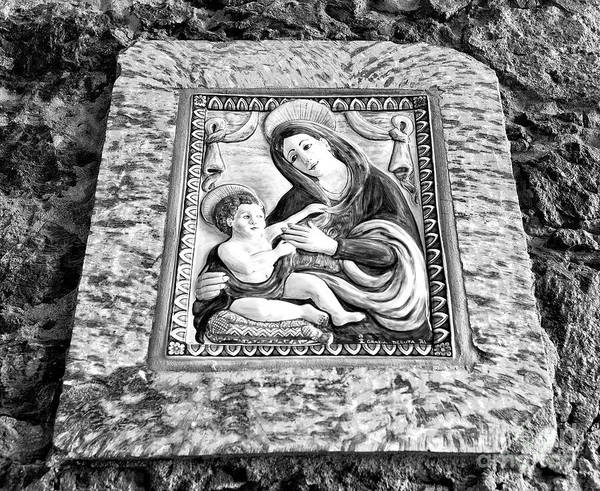 Wall Art - Photograph - Virgin And Her Child Mono by John Rizzuto