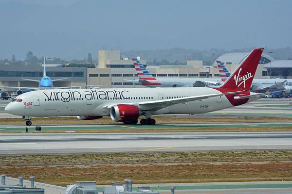 Wall Art - Photograph - Virgin Atlantic Boeing 787-9 G-vzig Los Angeles International Airport May 3 2016 by Brian Lockett