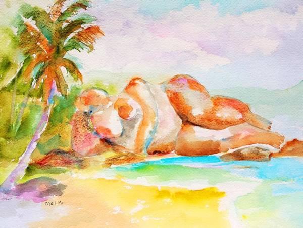 Azure Painting - Virgin Cove by Carlin Blahnik CarlinArtWatercolor