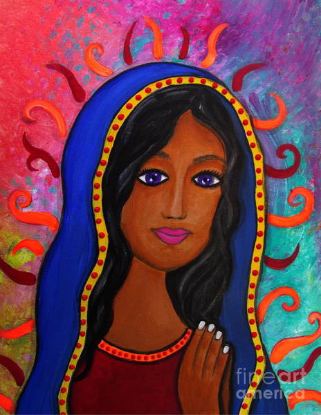 Painting - Virgin De Guadalupe by Pristine Cartera Turkus