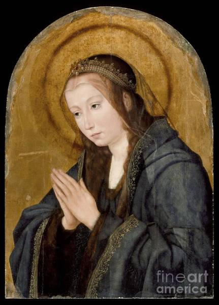 Painting - Virgin In Adoration by Celestial Images