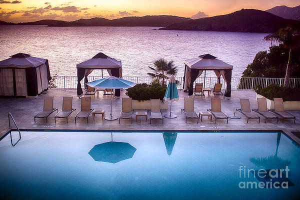 Wall Art - Photograph - Virgin Island Poolside Scenic by George Oze