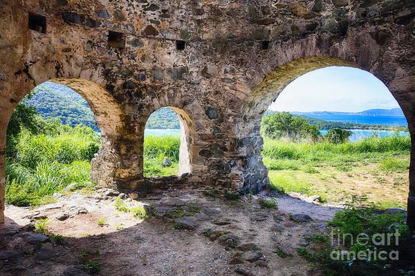 Wall Art - Photograph - Virgin Island Sugar Plantation Ruins by George Oze