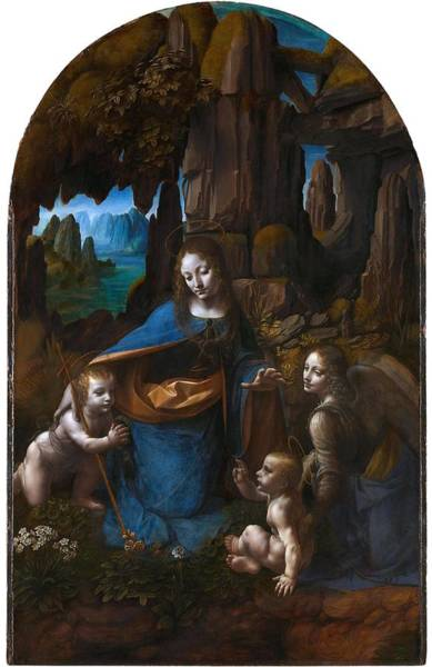 Painting - Virgin Of The Rocks Ver 2 by Leonardo Da Vinci