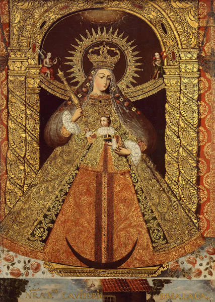 Bolivia Painting - Virgin Of The Victory Of Malaga by Bolivian artist