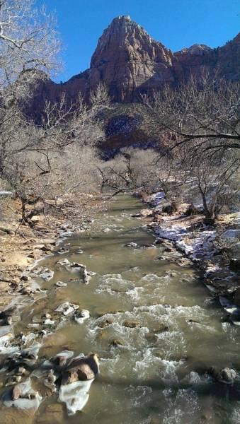 Photograph - Virgin River To Bridge Mountain by Liza Eckardt