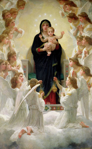 Wall Art - Painting - The Virgin With Angels by William-Adolphe Bouguereau