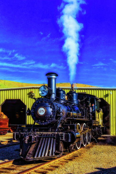 Wall Art - Photograph - Virgina Truckee Black Steam Train 25 by Garry Gay
