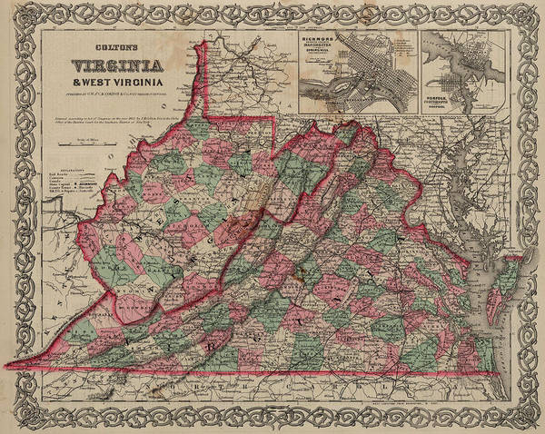 Wall Art - Painting - Virginia And West Virginia by Colton
