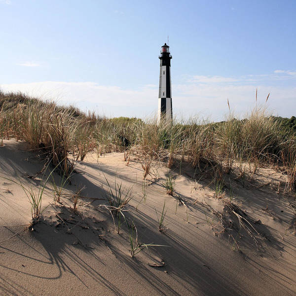 Virginia Lighthouse Photograph - Virginia Beach And The New Cape Henry Lighthouse by JC Findley