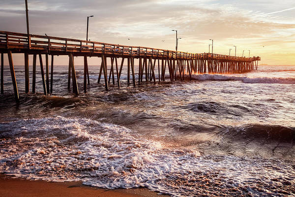 Photograph - Virginia Beach Fishing Pier by Lisa McStamp