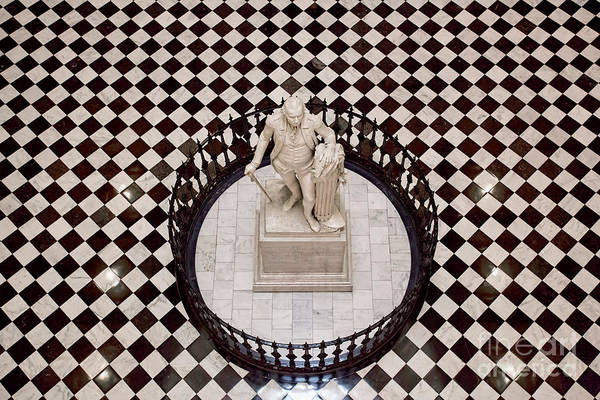 Photograph - Virginia Capitol - George Washington Statue by Jemmy Archer
