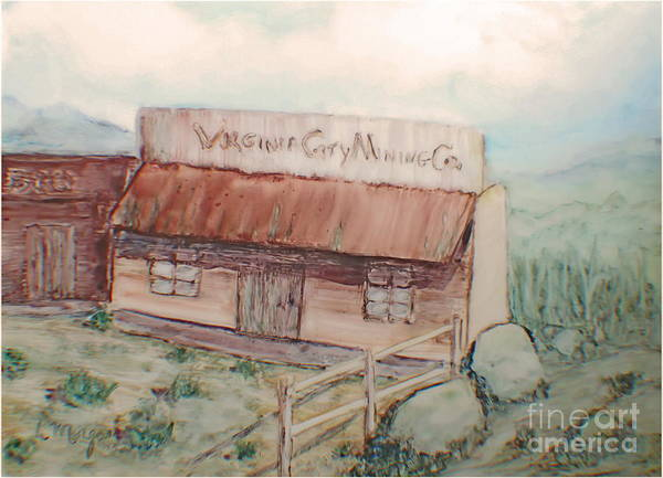 Painting - Virginia City Mining Co. by Laurie Morgan