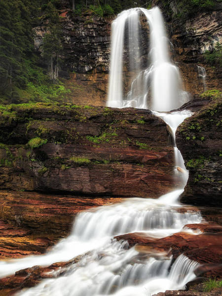 Photograph - Virginia Falls Glacier National Park by John Vose