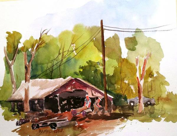 Painting - Virginia Saw Mill by Larry Hamilton