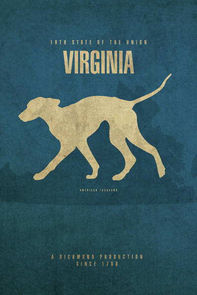 Richmond Virginia Wall Art - Mixed Media - Virginia State Facts Minimalist Movie Poster Art by Design Turnpike
