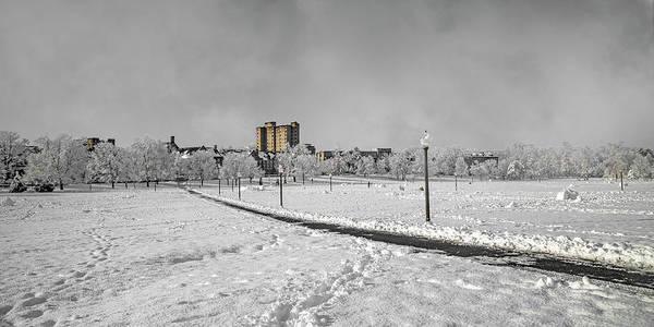 Wall Art - Photograph - Virginia Tech Campus Snowy Dream Drillfield by Betsy Knapp