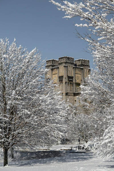 Wall Art - Photograph - Virginia Tech Campus Snowy Winterland by Betsy Knapp